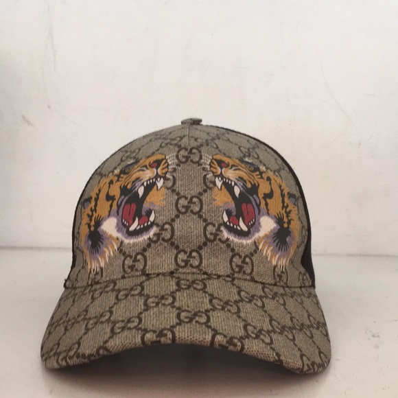 Gucci Other - Gucci Tiger Hat with Red Green Velcro strap 75375fbc119