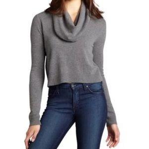 BCBG Samira Cropped Wool Cashmere Sweater
