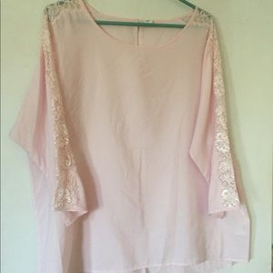 Old Navy Pink Lace Blouse
