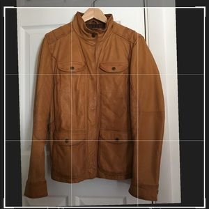 Beautiful Eddie Bauer leather field coat