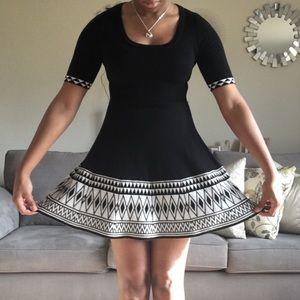 Juniors Xhilaration Aztec Patterned Knit Dress👗