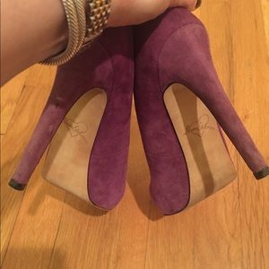 Sam Edelman purple pump