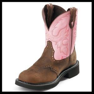 justin // gypsy pink steel toe work boots NWT