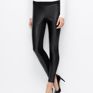 NWT Ann Taylor Faux Leather Ponte leggings small