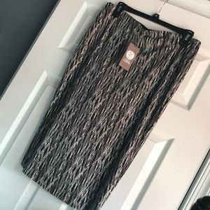 Vince Camuto Black & White Lined Pencil Skirt NWT
