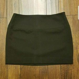 Express Black Suiting Mini Skirt