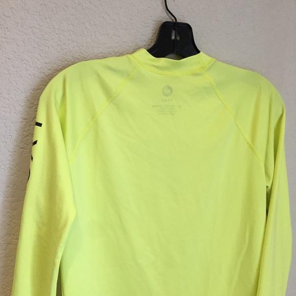 Roxy Tops - Roxy long sleeve neon yellow rash guard