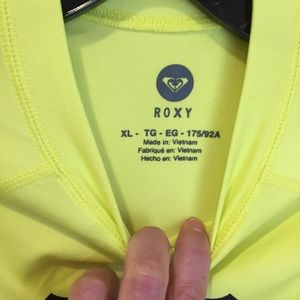 Roxy Tops - Roxy long sleeve neon yellow rash guard