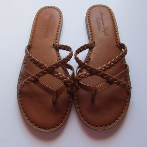 American Eagle Outfitters Brown Sandals Size 10