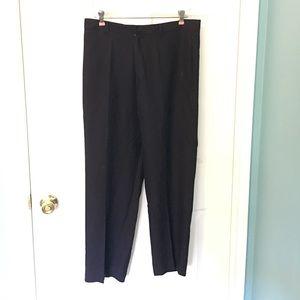 BCBGMaxAzria Silk Ankle Pants Navy Blue Trouser