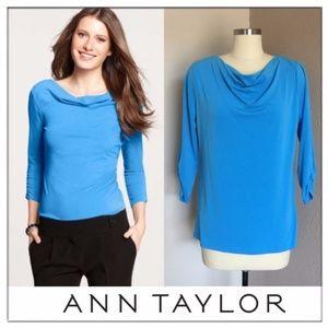 Ann Taylor Drape Neck Top