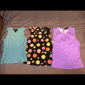 Three Nicole Miller Dress Tanks bundle size small