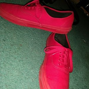 Red Vans Shoes