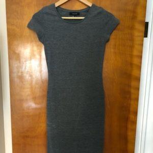 Midi-length, bodycon, T-shirt dress
