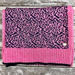 NWOT Juicy Couture Pink Leopard Print Scarf