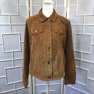 💥 Suede jean jacket
