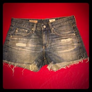 AG Andriano Goldschmied Distressed Shorts
