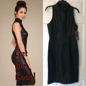 New Vintage Leather Dress Bermans Sleeveless sexy