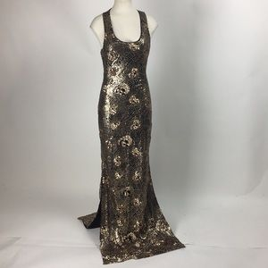 Ark & Co - Sequined Skull Pattern Gown