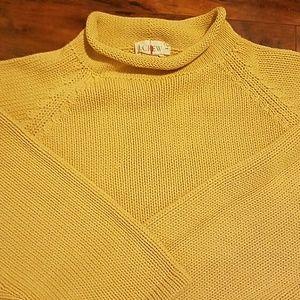 Vintage J Crew Cotton Roll Neck Sweater