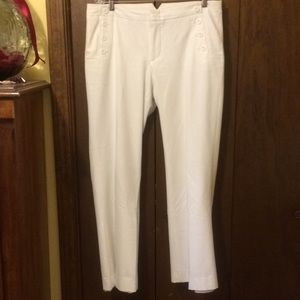 GAP winter white lined pant