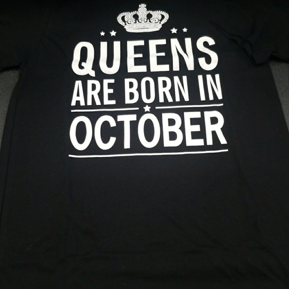 Queens Are Born Birthday Month Tees For