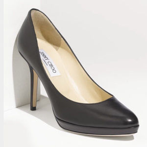 Jimmy Chop Aimee Black Leather Italy Pumps 37