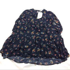 New Zara Girls Dress Size 6 Navy Boho Cute