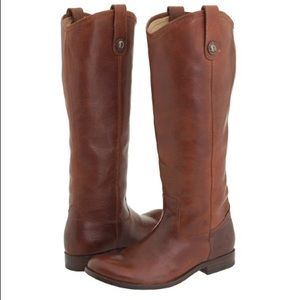 [Frye] Melissa Button Riding Boots Cognac 6B