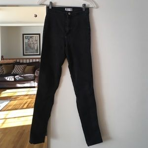 American apparel high waist easy jean. Black.