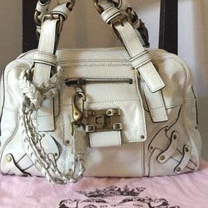 Juicy Couture White Leather Handbag