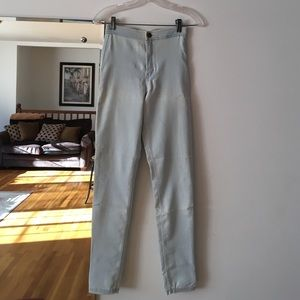 American apparel high waist easy jean. Light wash