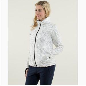Lululemon hustle flow chevron dot jacket