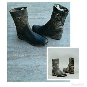 Bed Stu Bridgewater Black Lux Boots Size 8