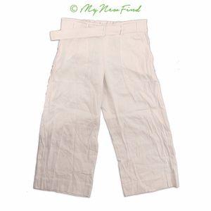 NWOT Vince Belted Culottes Larache Crop Wide Pants