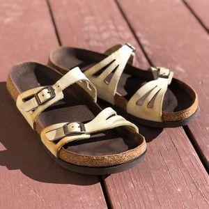 Birki's Birkenstock Leather Sandals Very Worn In