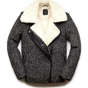 Jackets & Blazers - 2480: NEW Russian Wool Sherpa Champagne Wintercoat