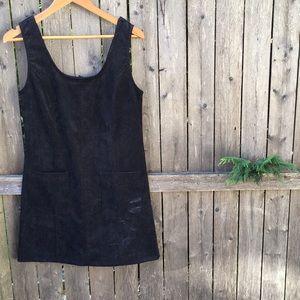 NWT Black Corduroy Pocket Dress