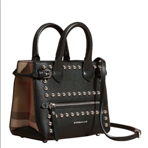 Burberry Handbags - NWOT rare Burberry studded house check baby banner 8484250ca213b