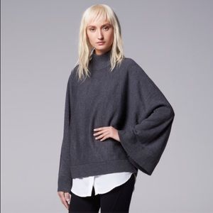 Simply Vera Wang Kimono Sleeve Mockneck Sweater