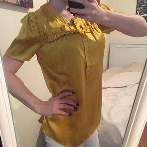Silk Fashion Tee - Yellow Gold