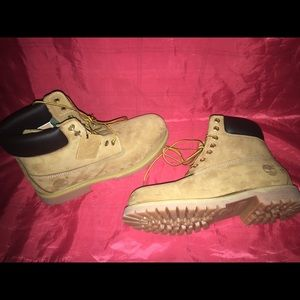 Size 12 and 10 Timberlands.