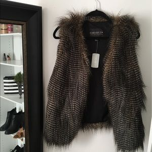 Plus Faux Fur Vest