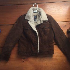 Vintage Leather Sheepskin Coat