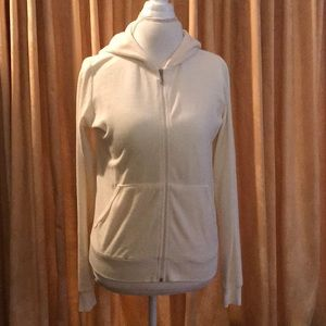Early Juicy Couture Velour Track Jacket in Cream