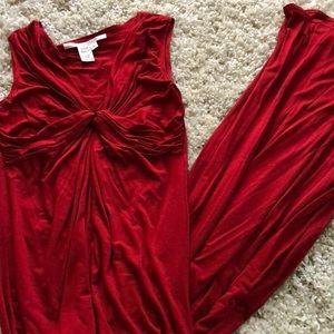 Max studio red long dress