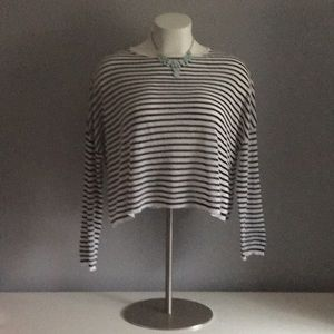 Stylish Eileen Fisher Lightweight Striped Sweater