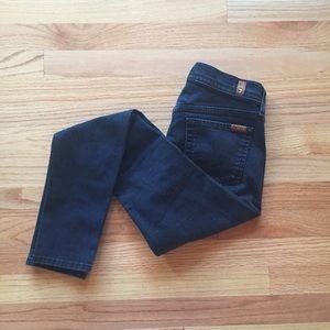 7FAM gwenevere black skinny jeans