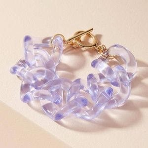NWT Anthropologie Looped Lucite Bracelet