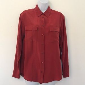 Equipment Silk Button Up